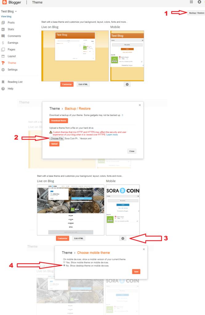 Blogspot template install guide