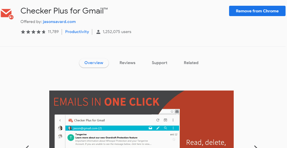 Checker Plus for Gmail chrome