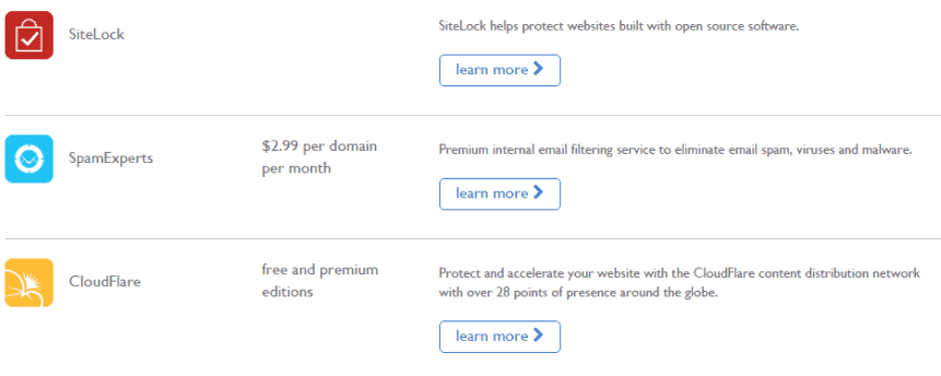 Bluehost Security Tools