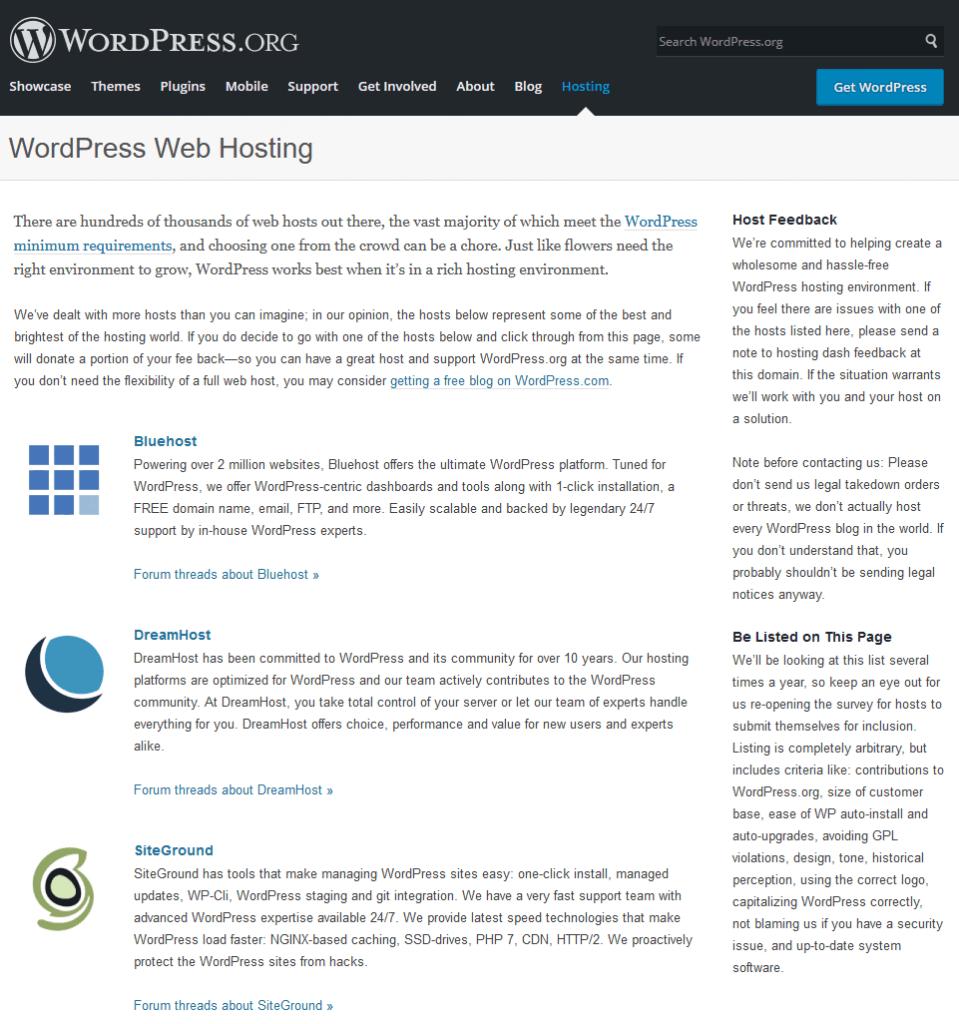 WordPress Hosting Recommendations