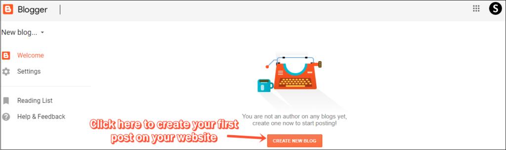 Bảng điều khiển mới của Blogger