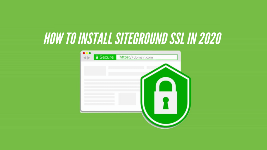 Install SiteGround SSL
