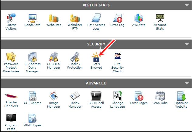 SiteGround cPanel SSL option