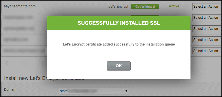 Successfully Installed SSL on SiteGround