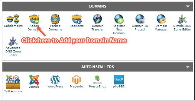 Add domain on SiteGround