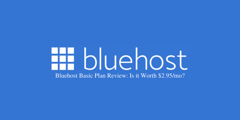 Bluehost Basic Plan Review