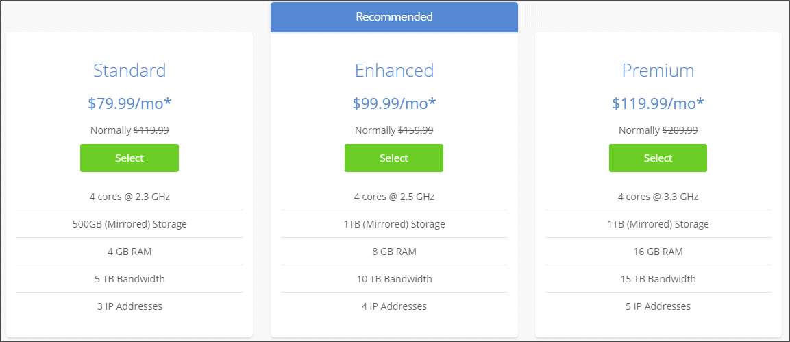 Bluehost dedicated server plans