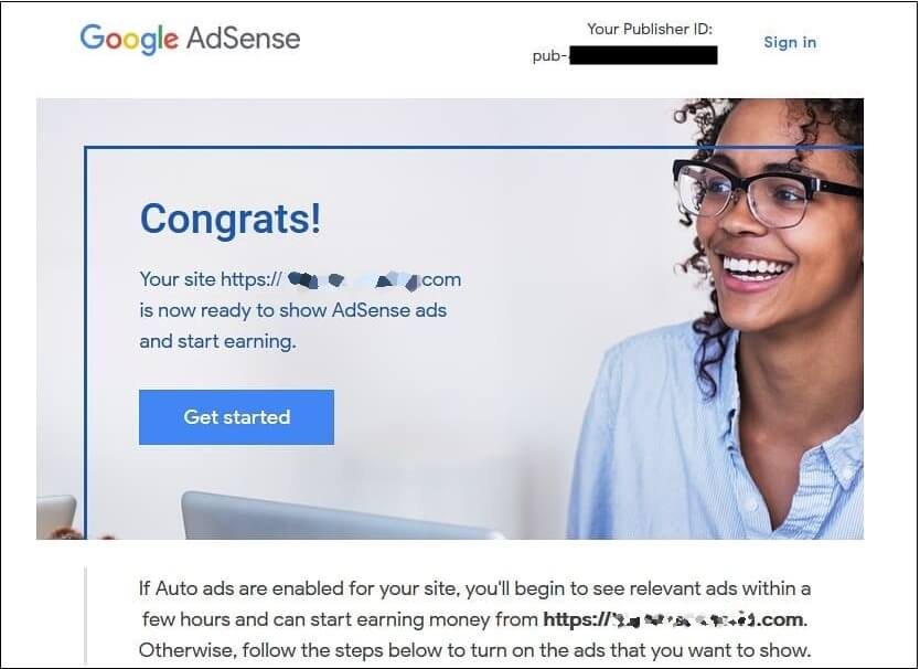Google Adsense account approved 2020