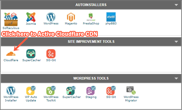 Install CDN from cPanel