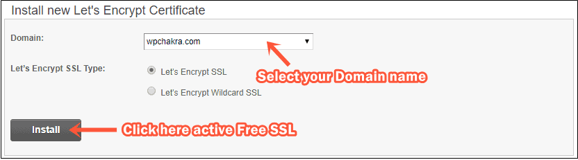 SSL install SiteGround