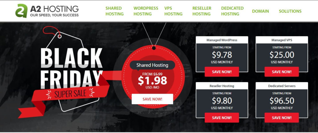 A2 Hosting Black Friday Cyber Monday Discount 2020