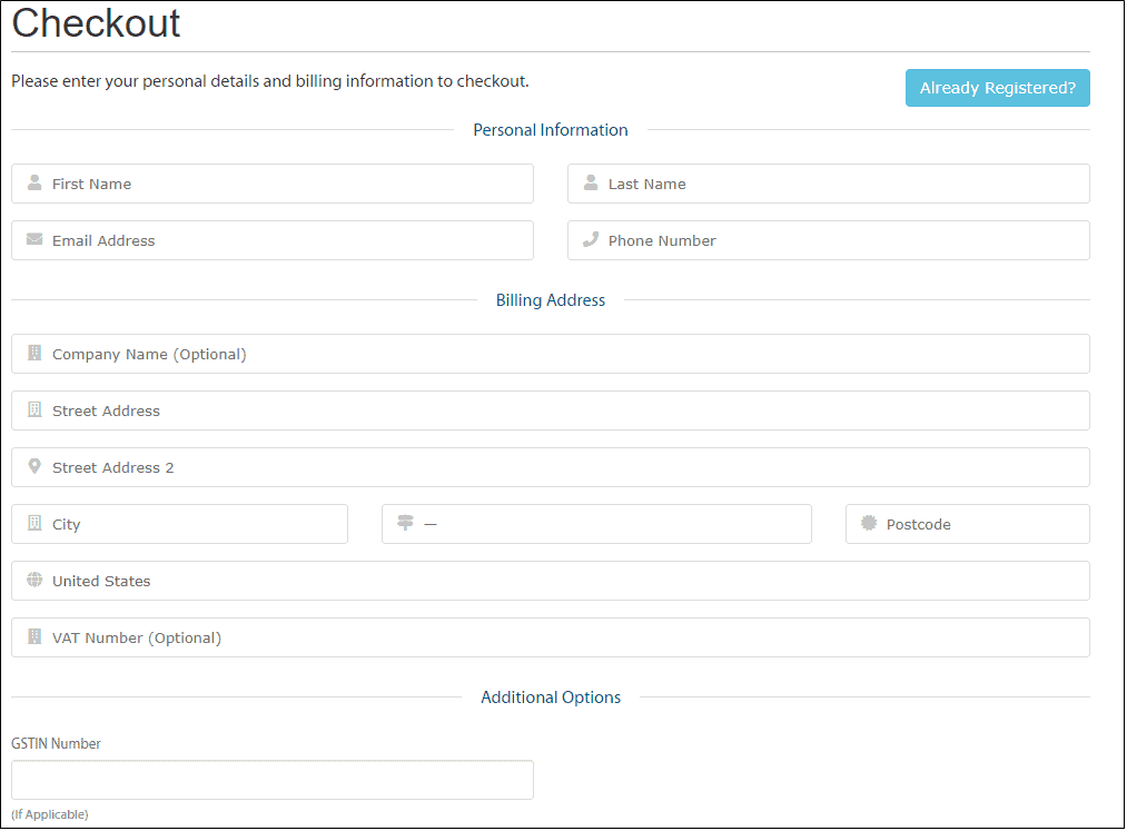 A2 hosting personal details