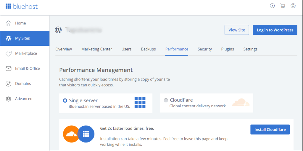 Bluehost Cloudflare CDN