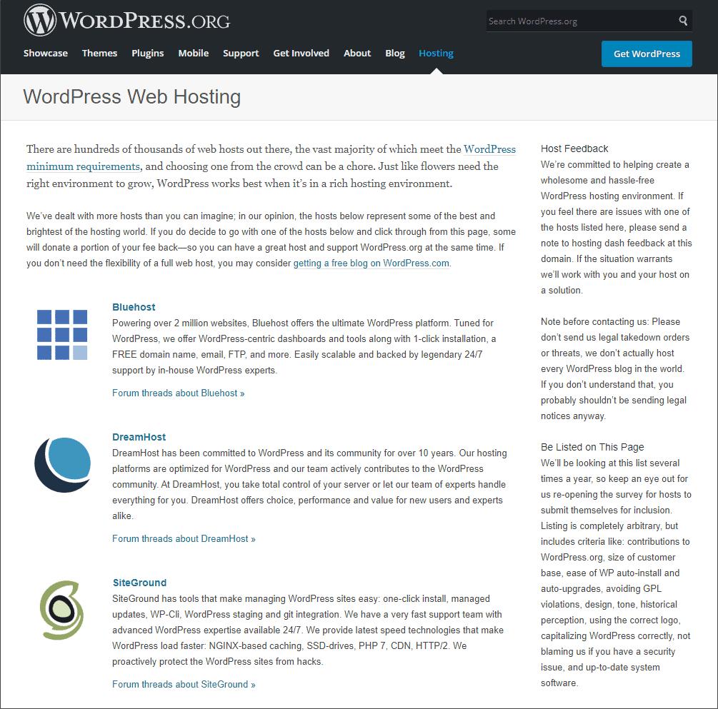 WordPress Hosting Recommendation