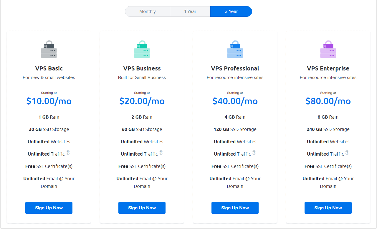 Dreamhost vps hosting plans pricing