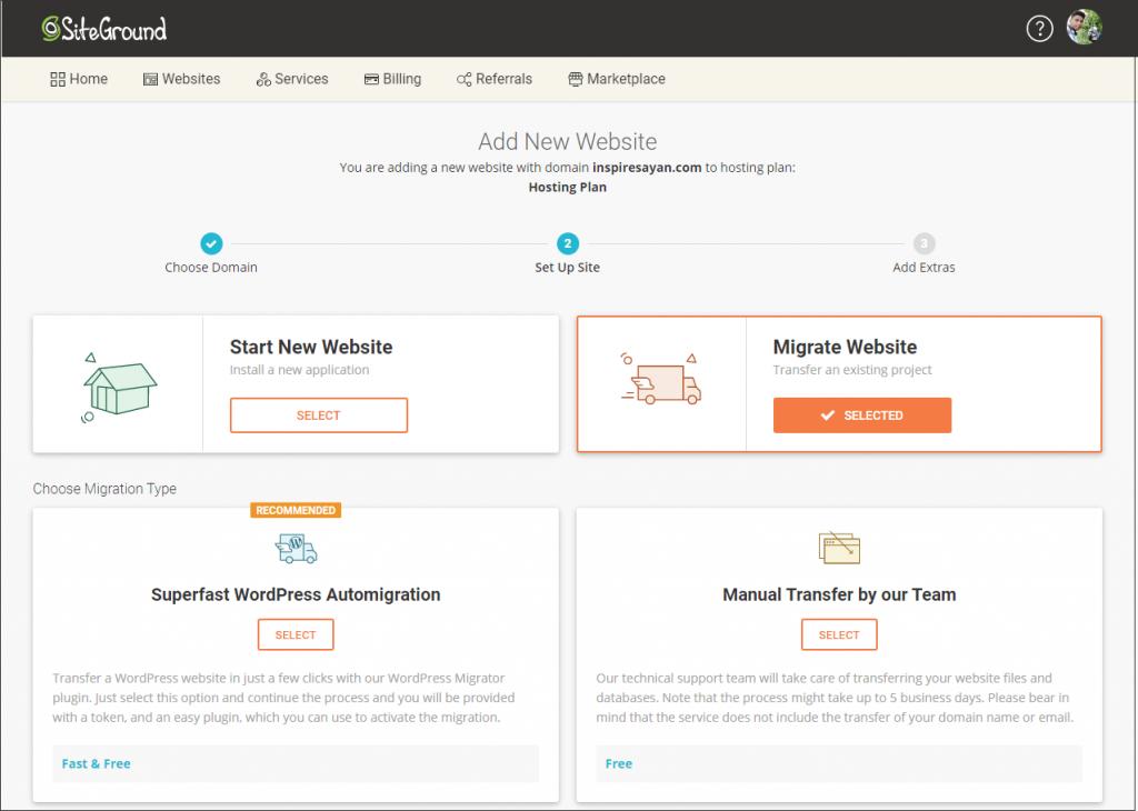 SiteGround free site migrations