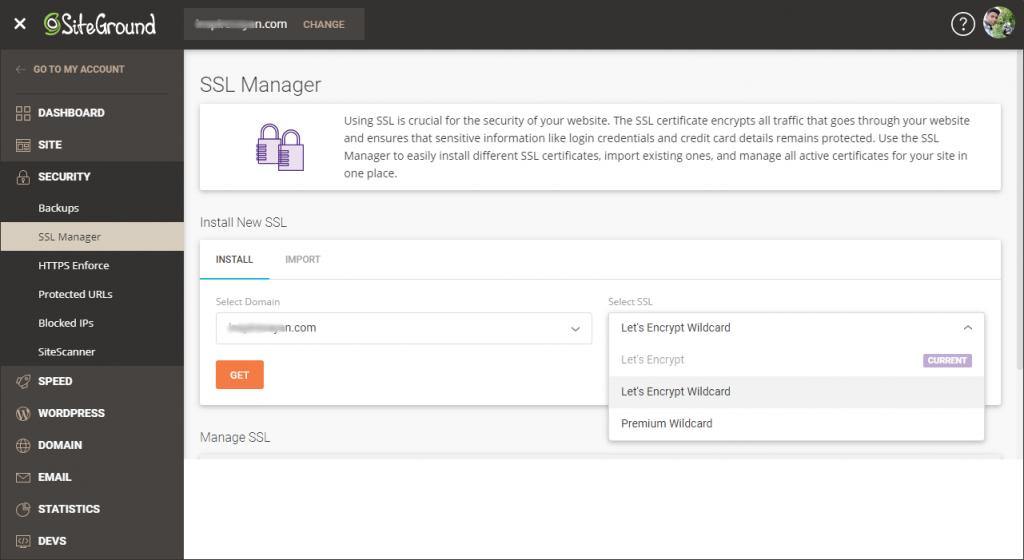 Siteground Free SSL