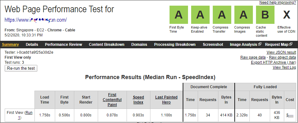 HostGator Website speed