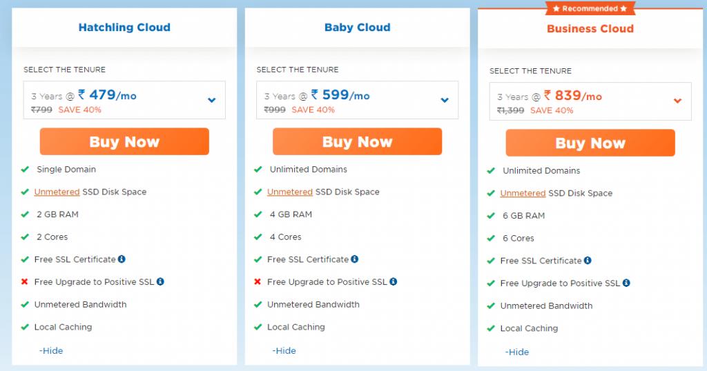 HostGator India Cloud Hosting