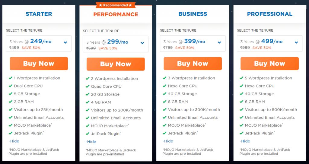 HostGator India Managed WordPress hosting