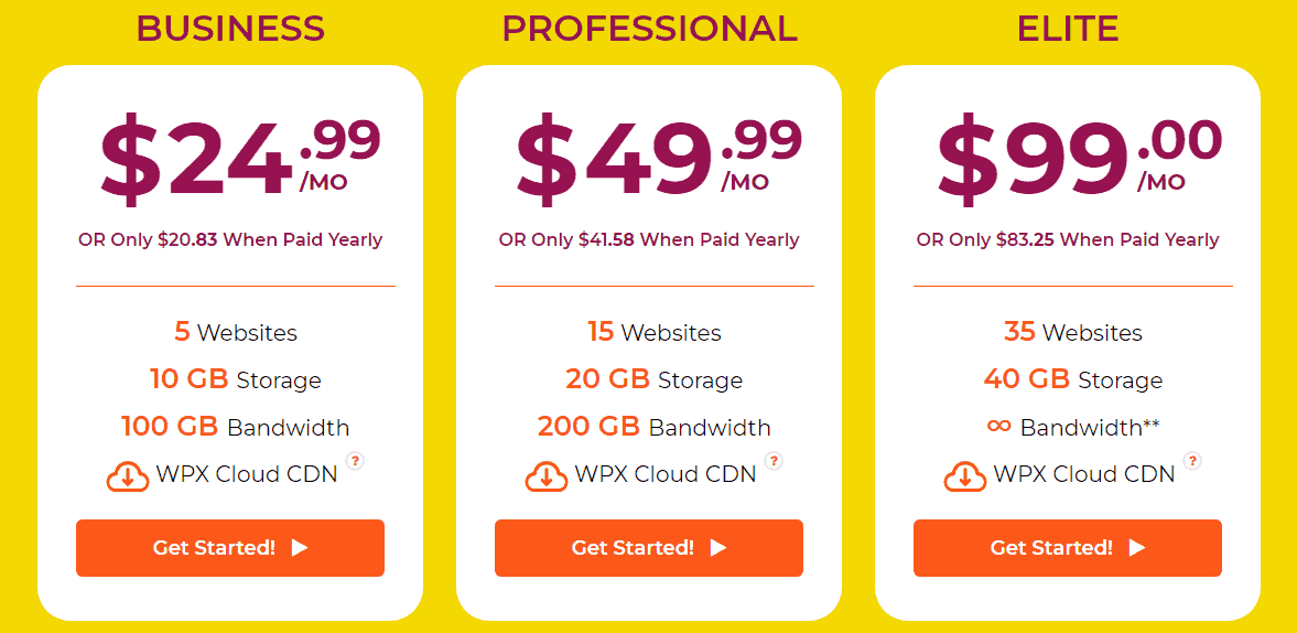 WPX plans Pricing