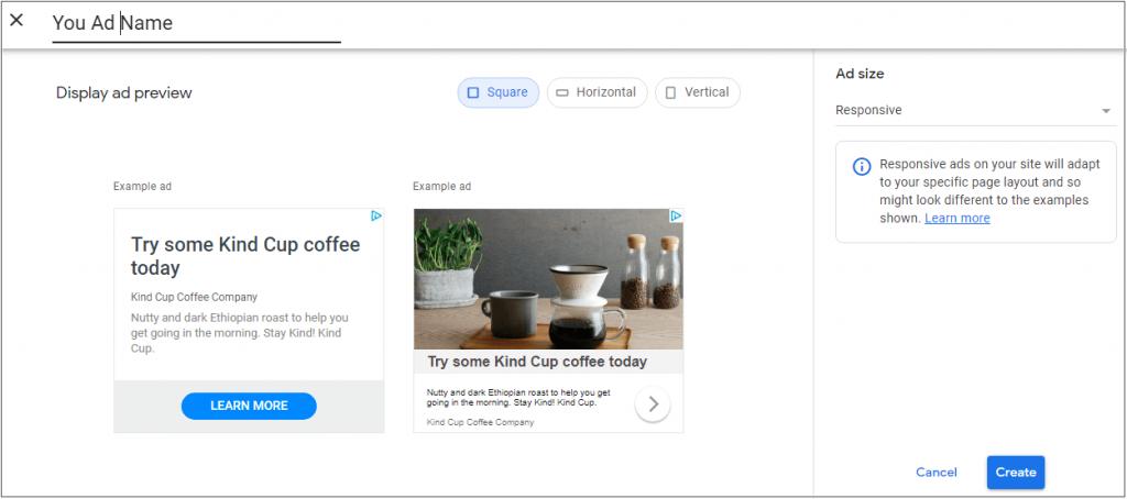 create AdSense responsive ad unit