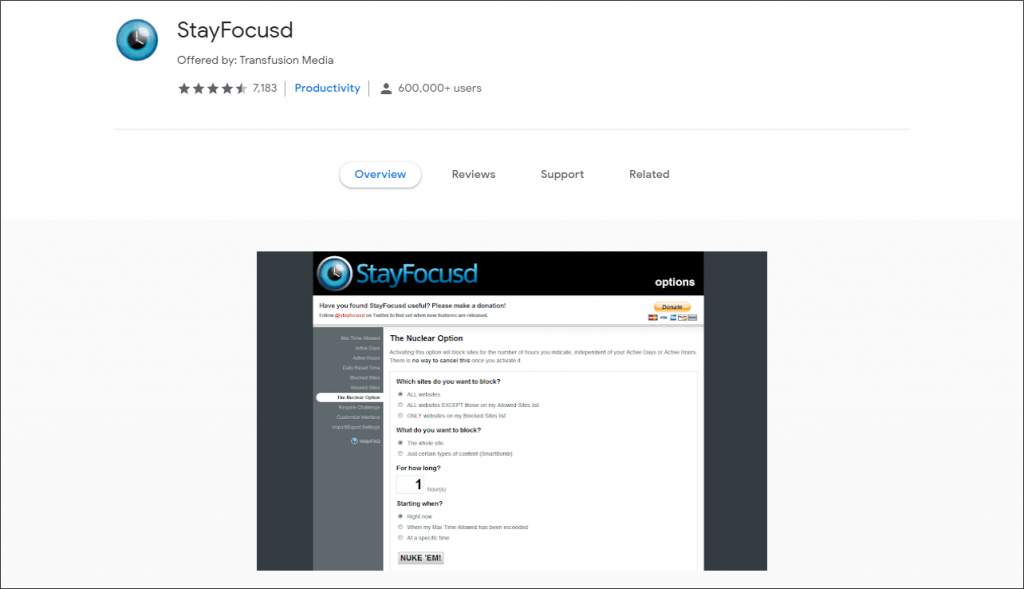 stayfocusd Extension