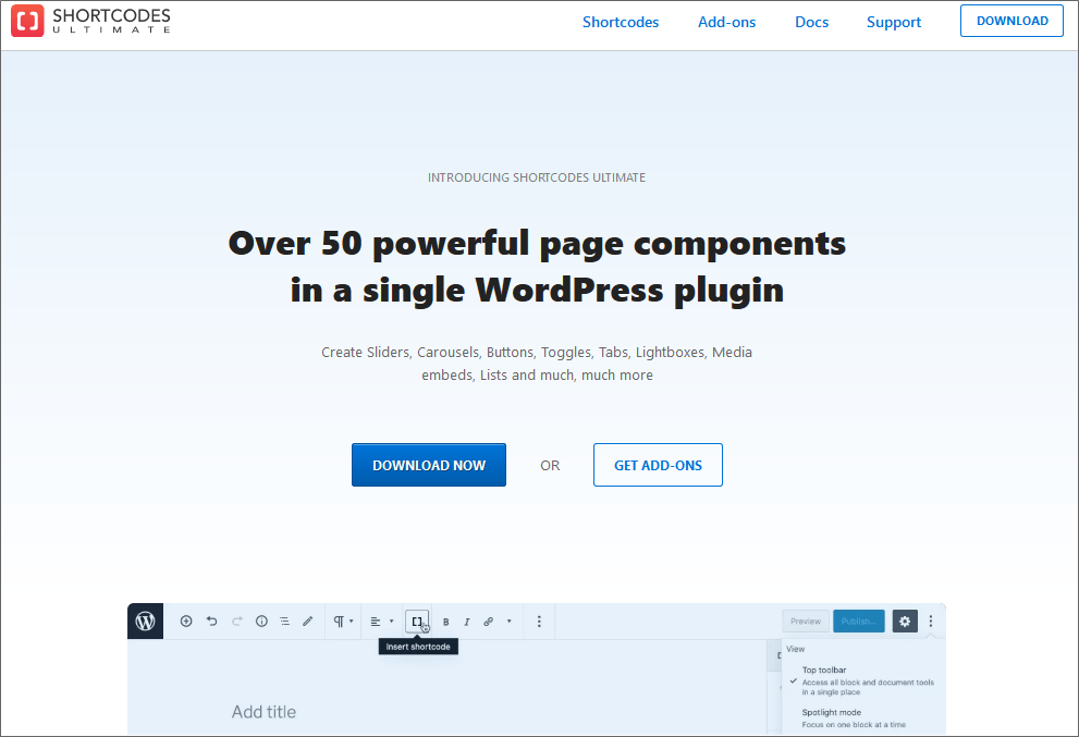 Shortcodes Ultimate WordPress Shortcodes Plugin