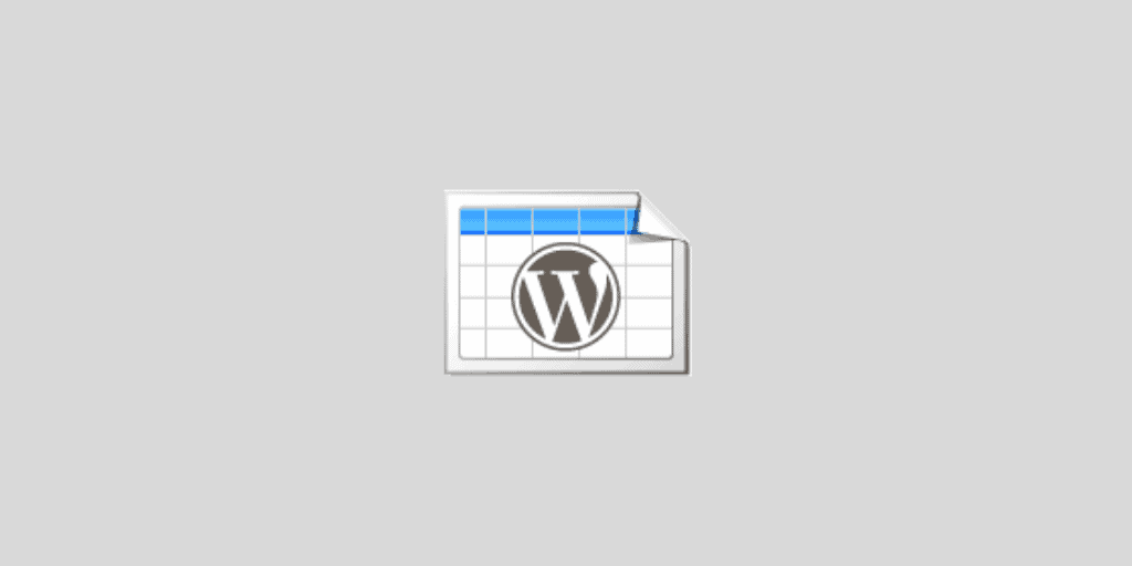 TablePress WordPress Table plugin