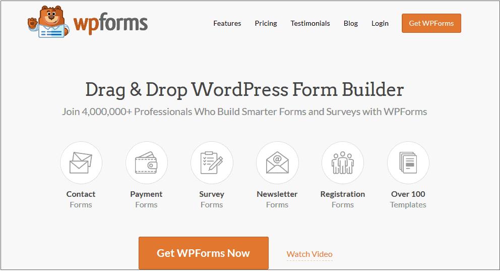 WPForms WordPress contact form plugin