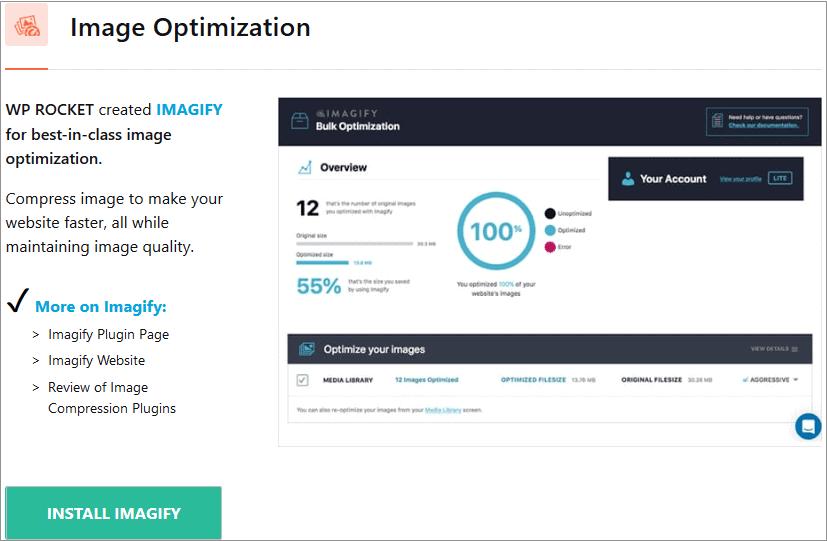 Imagify Image Optimization by Wp Rocket