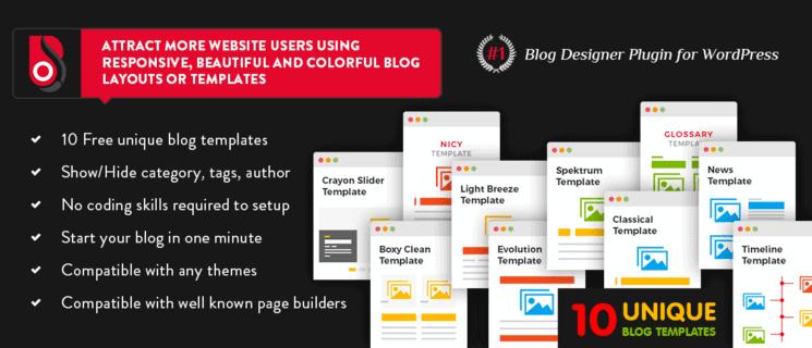 Blog Designer Lite WordPress Plugin