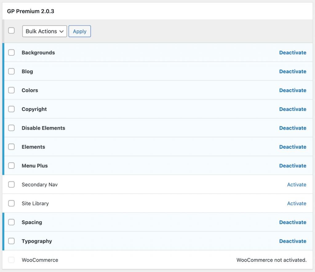 GeneratePress premium modules