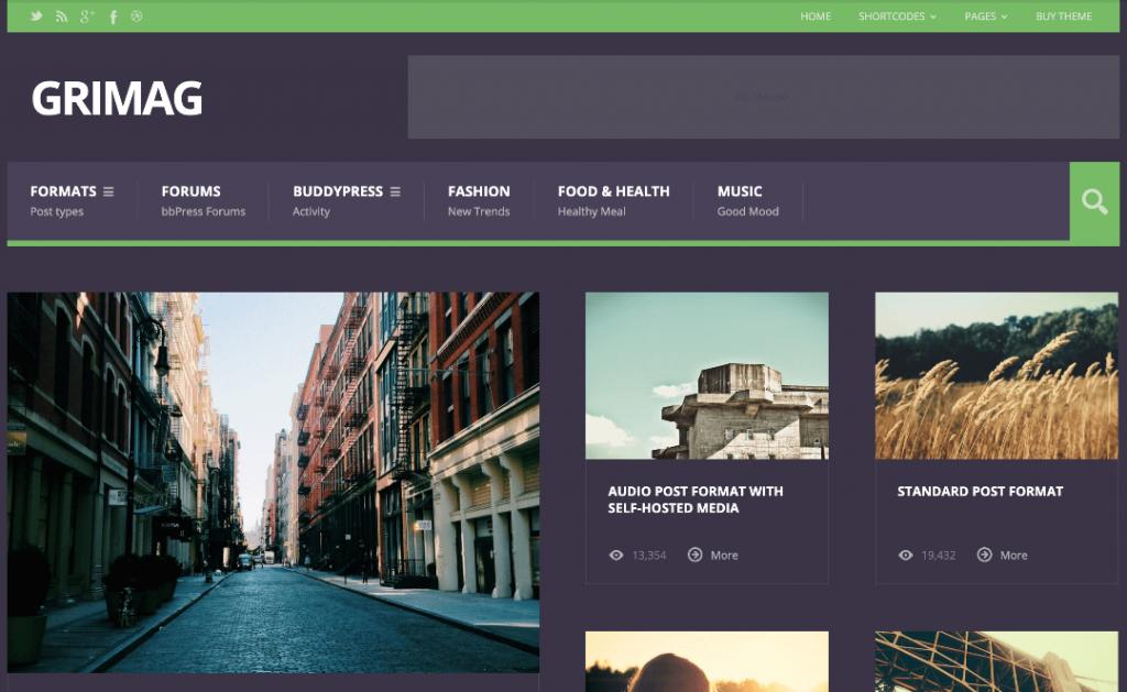 Grimag WordPress AdSense theme
