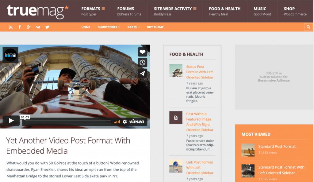 Truemag AdSense WordPress Theme